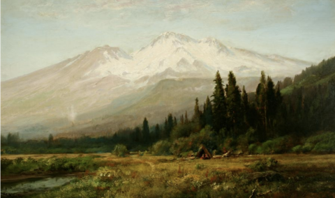 William Keith, Mount Shasta from Strawberry Valley, c. 1890